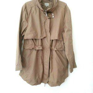 COATOLOGY Beige Jacket Coat Raincoat Packable XL